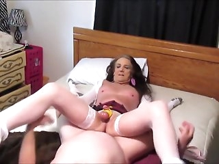 Hottest Homemade Shemale video with Stockings, Mature scenes