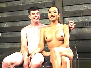 breasty lalin girl bdsm Ts Rimmed By Tiedup Sub